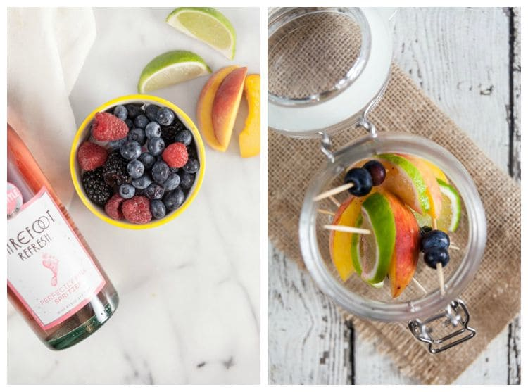 Peach and Mixed Berry Sangria
