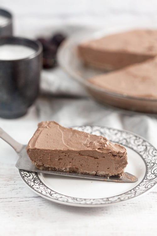 Mexican Chocolate Cream Pie (High Protein, Low Sugar, Vegan)