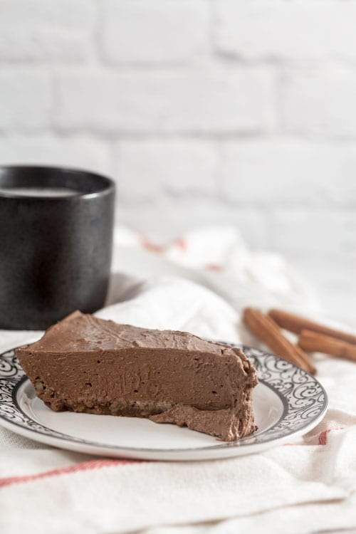 Mexican Chocolate Cream Pie (High Protein, Low Sugar, Vegan)