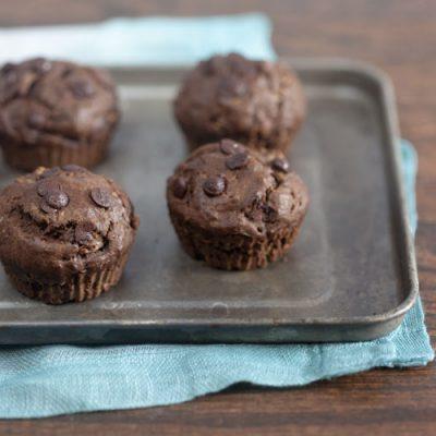 Chocolate Chai Zucchini Muffins
