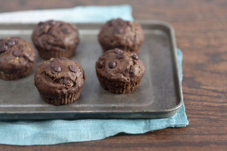 Chocolate Chai Zucchini Muffins 1
