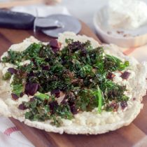 Cripsy Crust Kale and Beet Pizza (Yeast Free)
