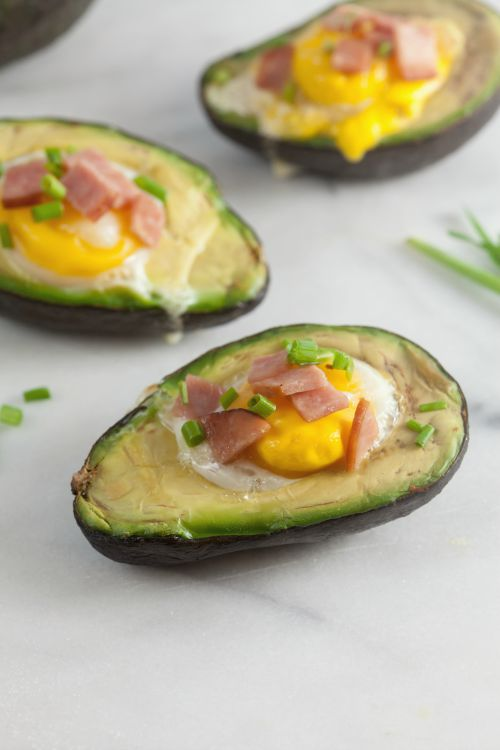 Canadian Bacon and Egg Stuffed Avocados