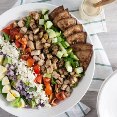Middle Eastern Cobb Salad with Hummus Vinaigrette