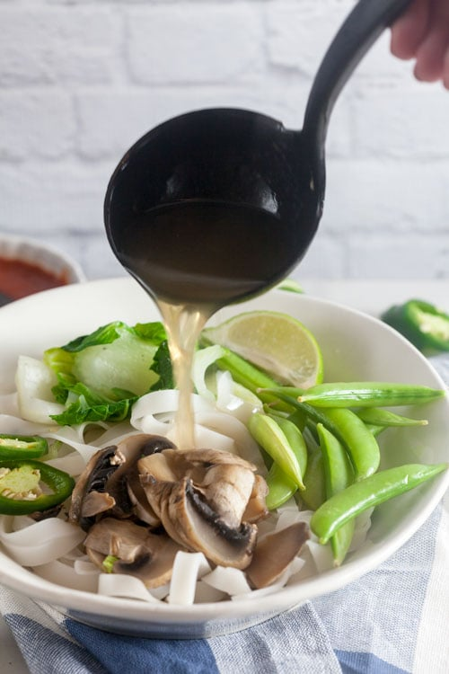 vegetable pho from scratch