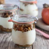 Greek Yogurt Parfaits with Homemade Apple Butter Granola