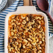 Sweet Potato Casserole with Curried Cashews