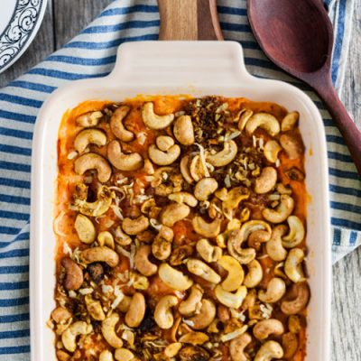 Sweet Potato Casserole with Curried Cashews