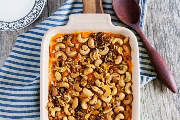 Sweet Potato Casserole with Curried Cashews 1
