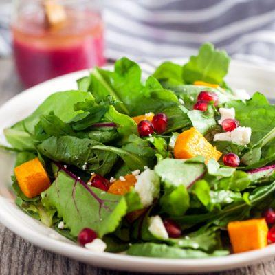Pomegranate + Roasted Butternut Squash Salad