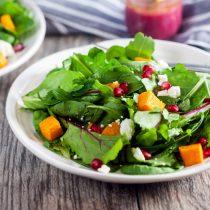Roasted Butternut and Pomegranate Salad with Pomegranate Vinaigrette