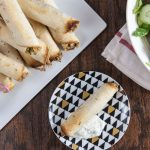 5 Ingredient Crispy Baked Chicken and Hummus Flautas