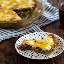 """Raceltte"" Quiche – Salani and Swiss Quiche with Potato Crust"