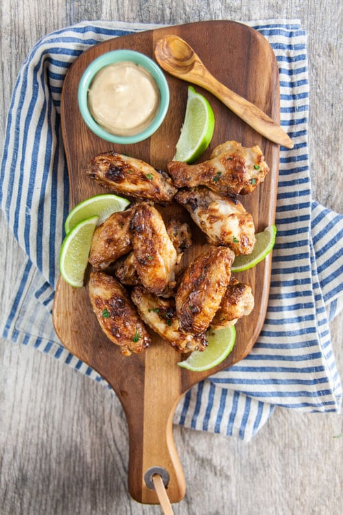Baked Thai Peanut Chicken Wings