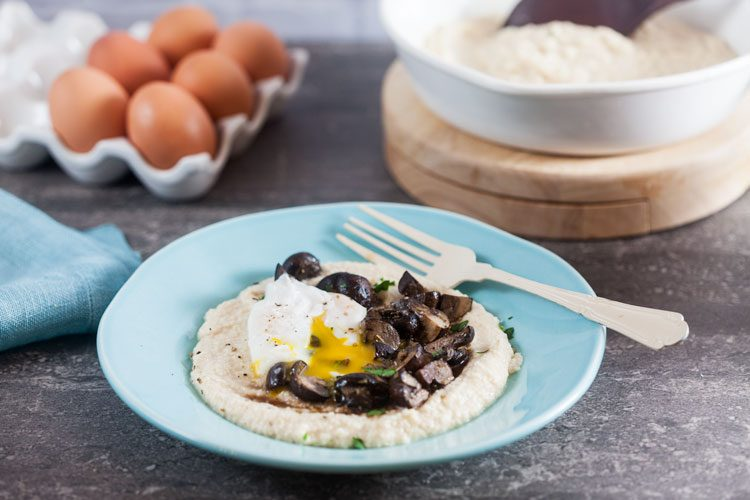 Almond Meal Polenta with Roast Mushrooms