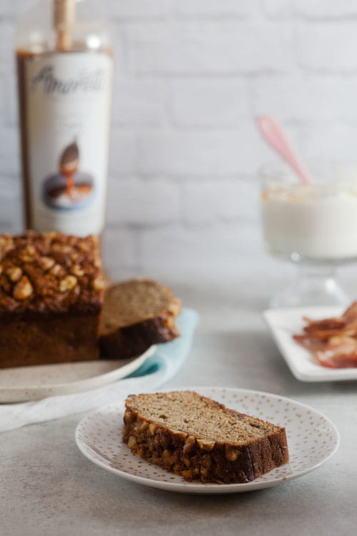 Healthy Cajeta Banana Bread with Walnuts