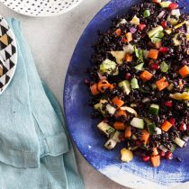 Black Rice Salad with Green Mango and Avocado