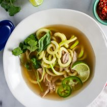 Thai Chicken Soup with Zucchini Noodles 17