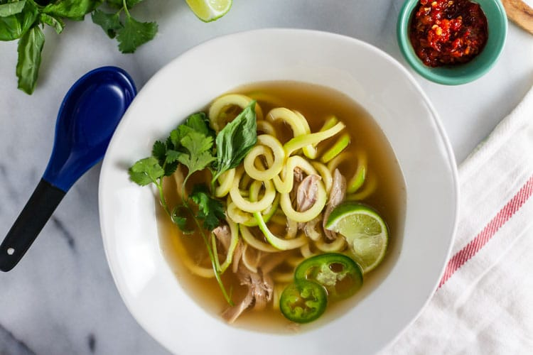 Thai Chicken Soup with Zucchini Noodles 1