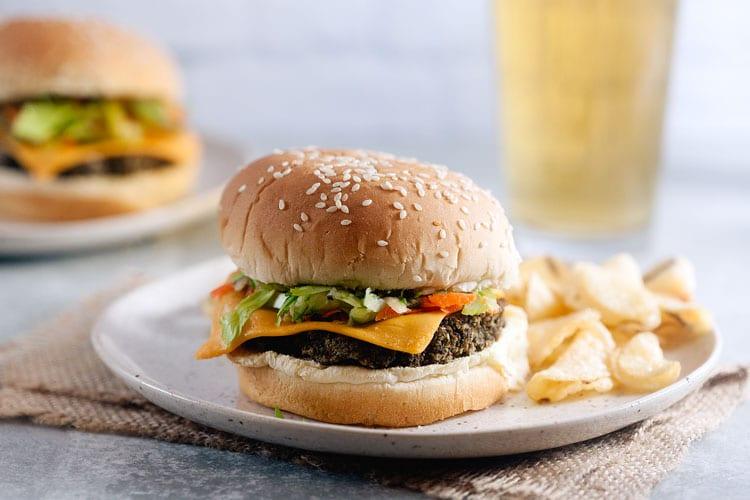 Homemade Veggie Burgers with Carrot-Celery Slaw
