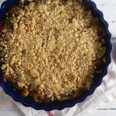 Savory Vegetable Crumble (Vegan and Gluten-Free)