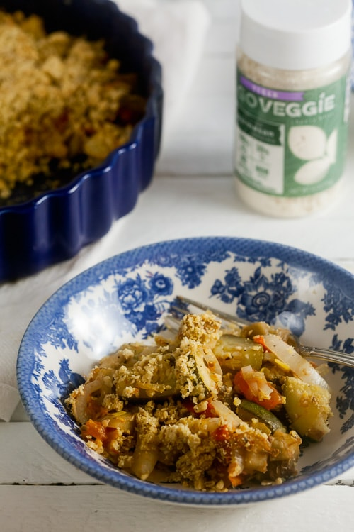 savory vegetable crumble - vegan and gluten free