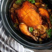 Slow-Cooked Chicken Pot Roast with Sweet Paprika and Cayenne