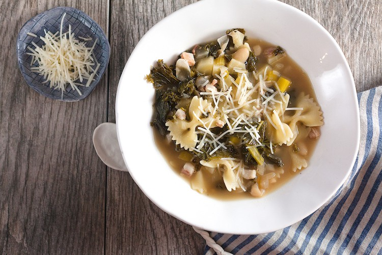 White bean and kale soup is the answer to your springtime cold. You'll want to slurp it straight from the bowl!