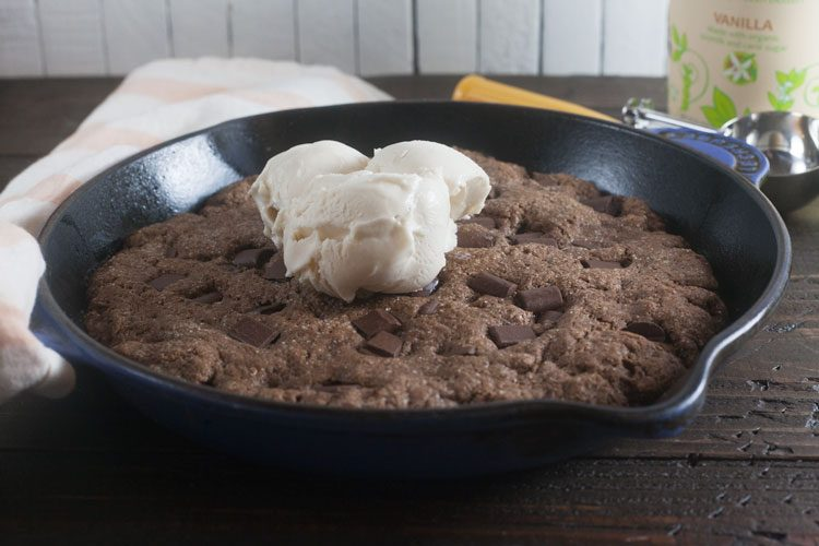 Malted Chocolate Skillet Cookie