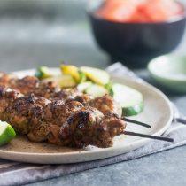 Grilled Jerk Chicken Skewers