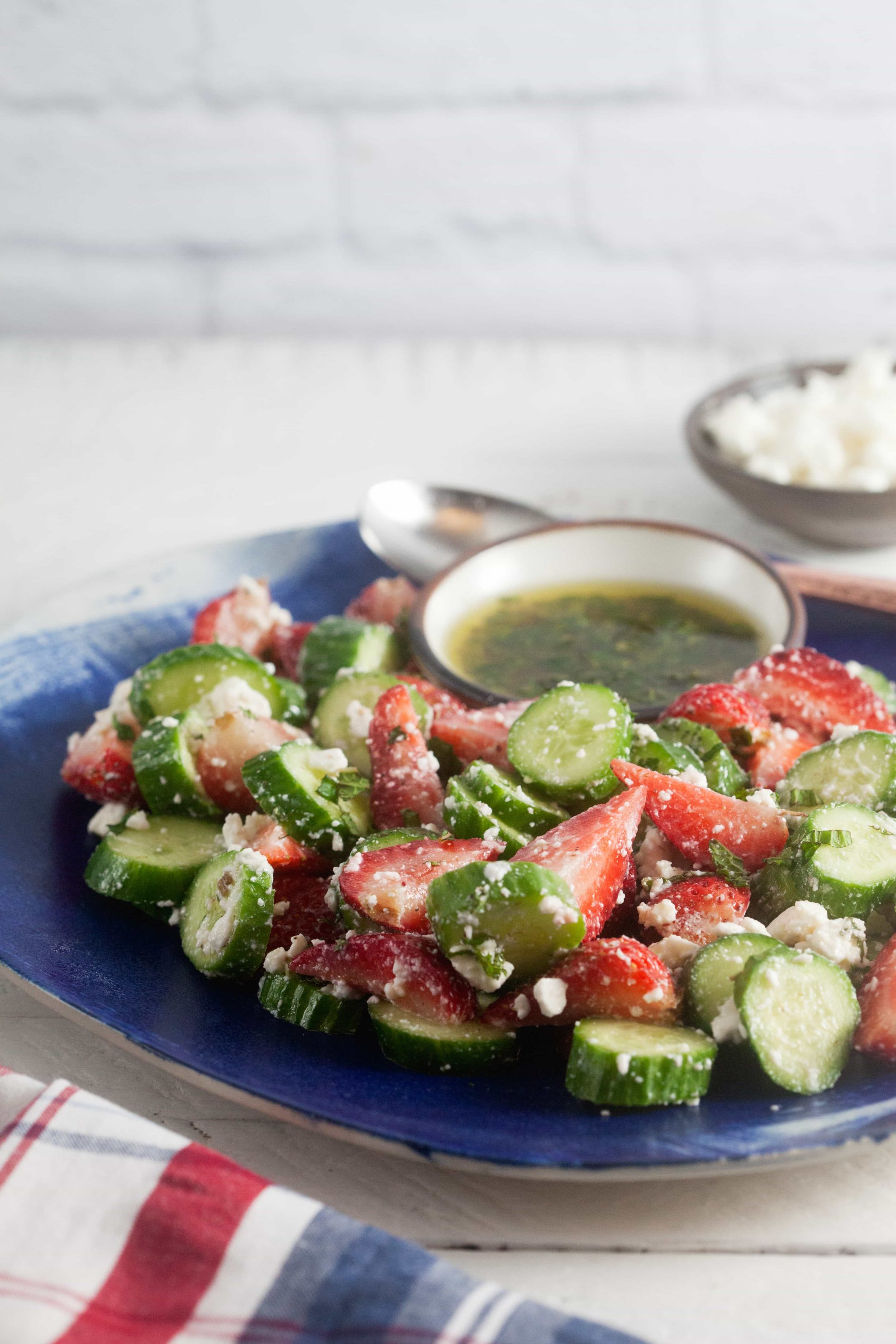 Strawberry Cucumber Salad with Feta and Mint