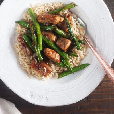 Honey-Ginger Pork Stir Fry with Green Beans