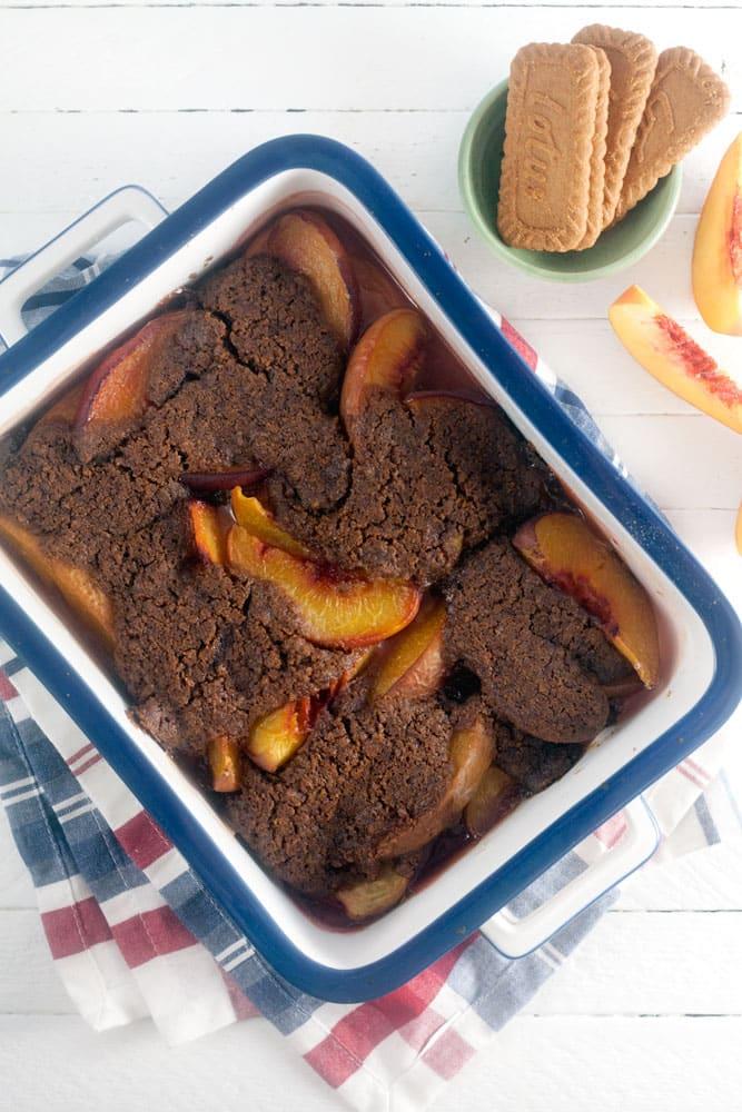 Biscoff Peach Cobbler Recipe