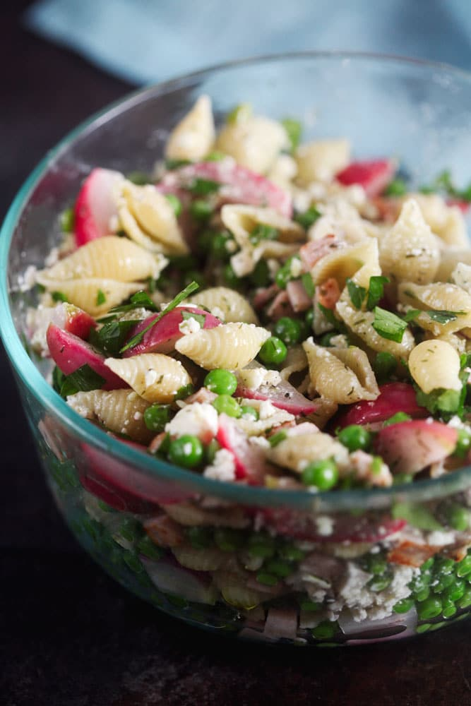Dilled Pea Pasta Salad