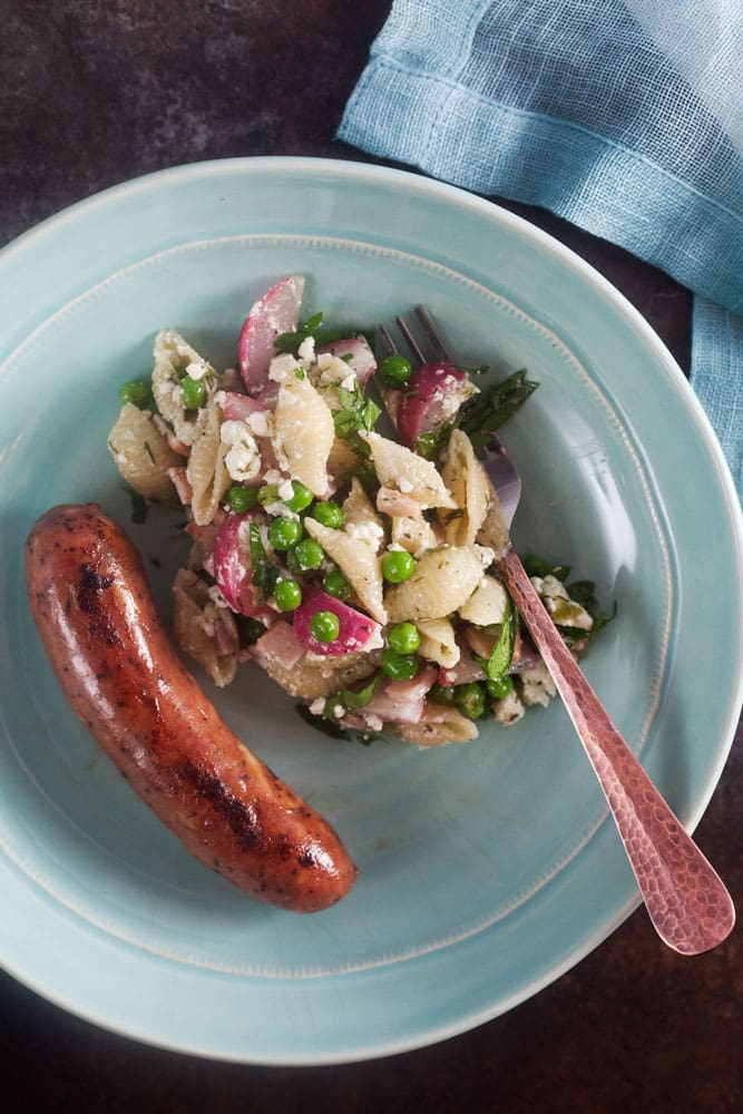 Dilled Pea Pasta Salad