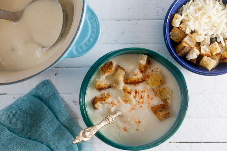 Creamy Cauliflower Cheese Soup with Smoked Paprika