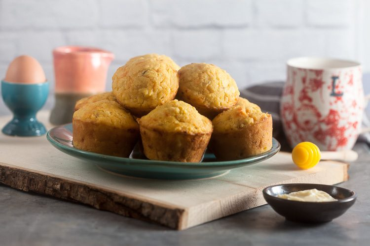 Recipe for Apple Cheddar Corn Muffins