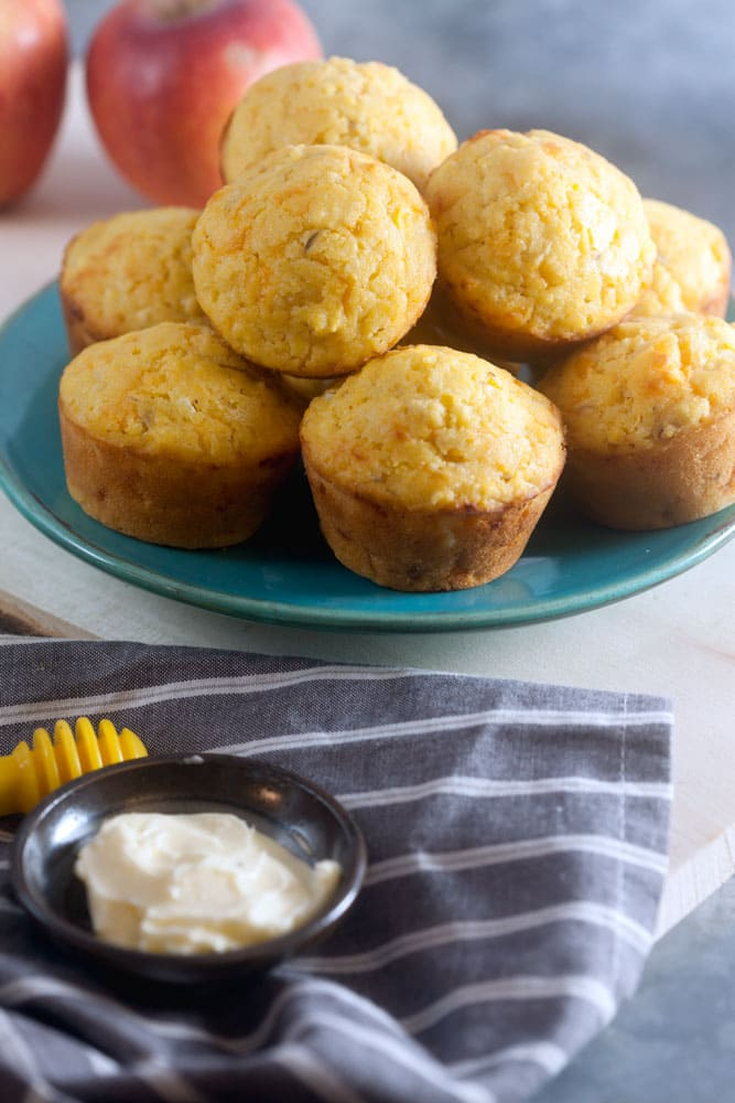 Apple Cheddar Corn Muffins Recipe