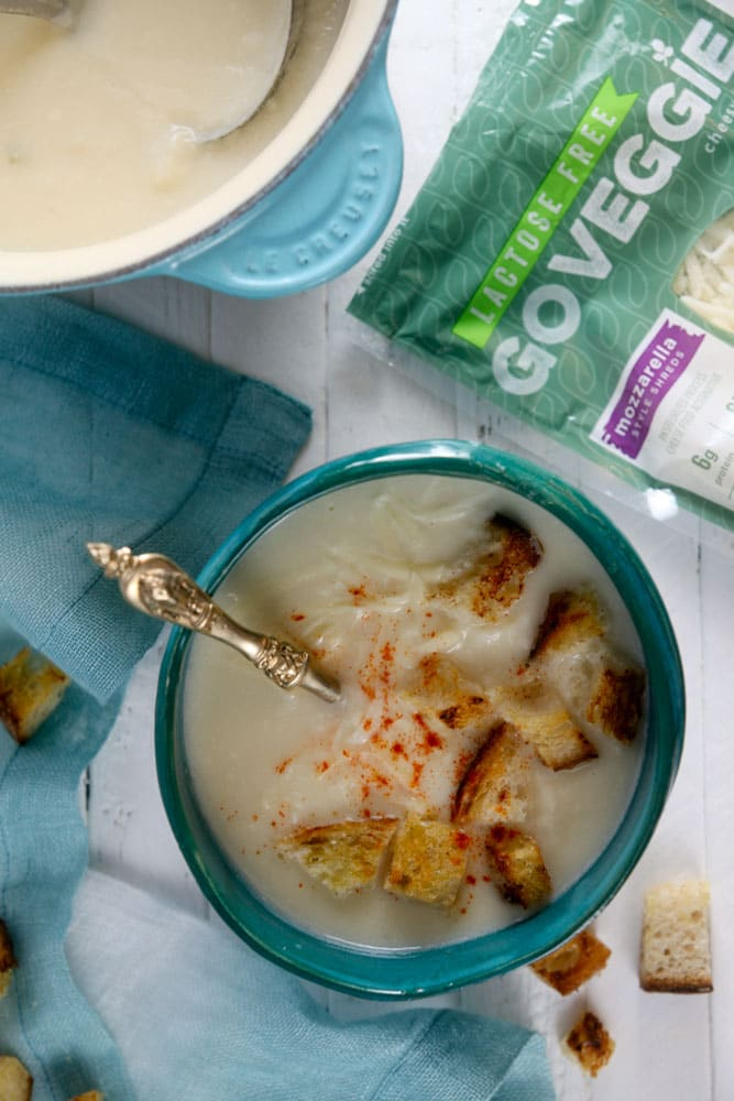 Creamy Cauliflower Cheese Soup with Smoked Paprika