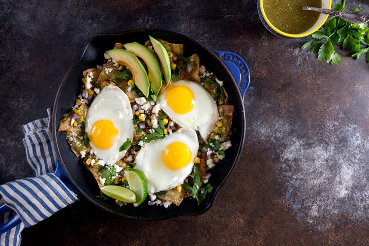 Baked Chilaquiles Verdes Recipe // Healthy Delicious