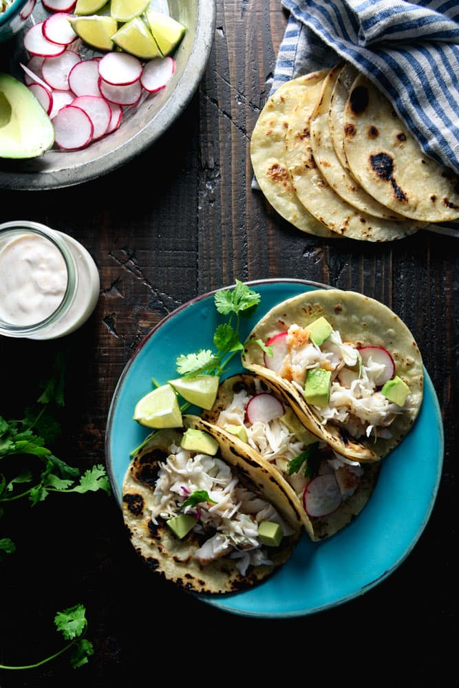 Halibut Tacos with Chipotle Lime Yogurt Recipe
