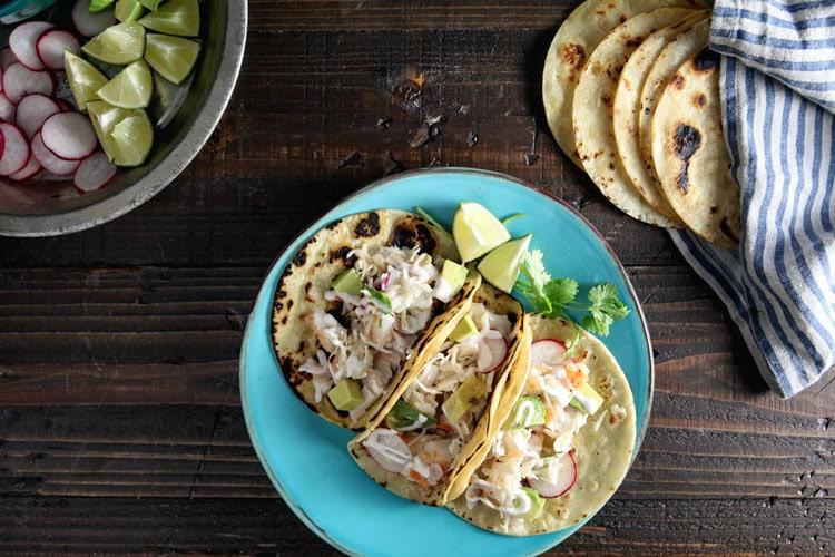 Halibut Tacos with Chipotle Lime Yogurt Recipe