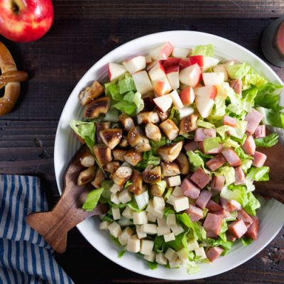 Fall Harvest Salad with Pretzel Croutons