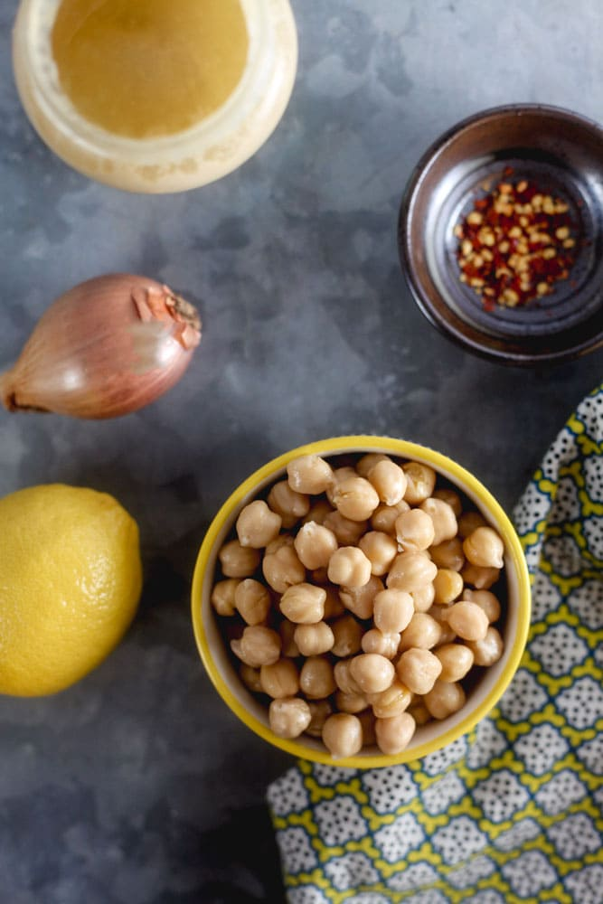 Tahini Chickpea Salad Ingredients