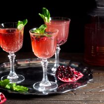 Sparkling Pomegranate Tangerine Rum Punch for the Holidays