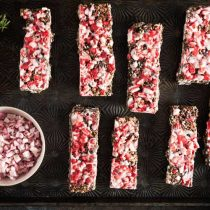 Homemade Peppermint Bark Granola Bars