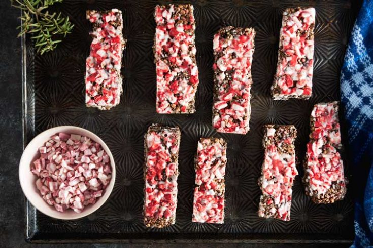 Homemade Peppermint Bark Granola Bars 1