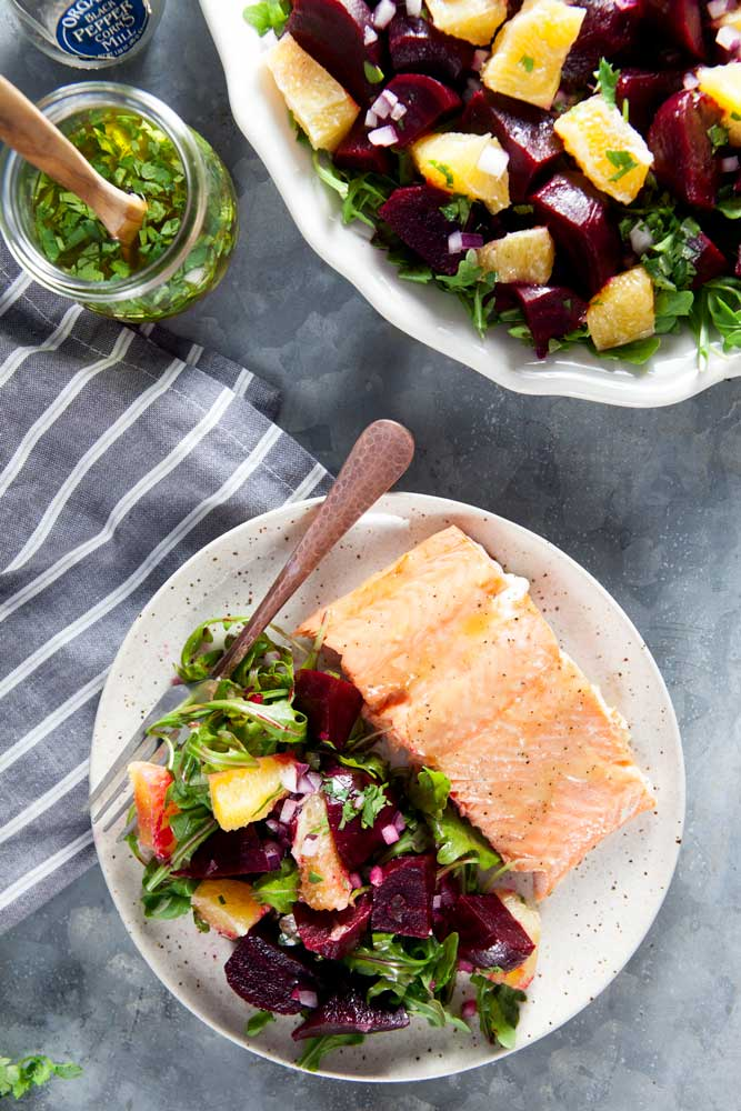 Roasted Beet and Citrus Salad with Cilantro Vinaigrette (Whole 30 Recipe)