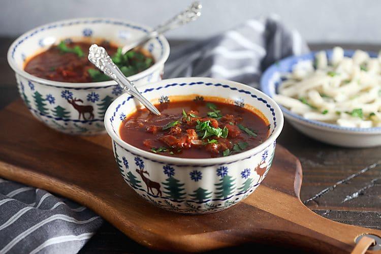 Homemade goulash soup recipe