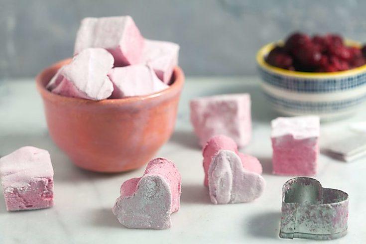 Homemade Raspberry Hibiscus Marshmallows 1